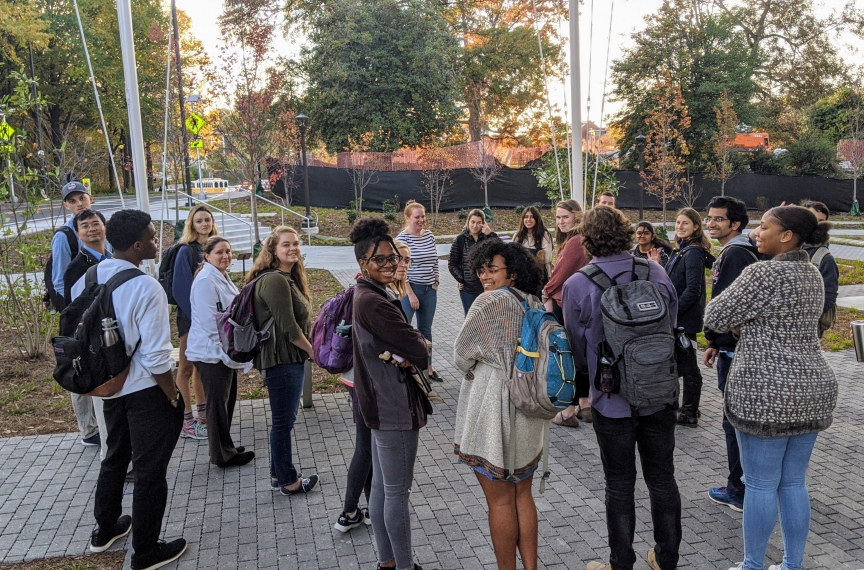 The Office of Campus Sustainability has regularly scheduled tours set for once a week conducted by an OCS student assistant or OCS staff member.