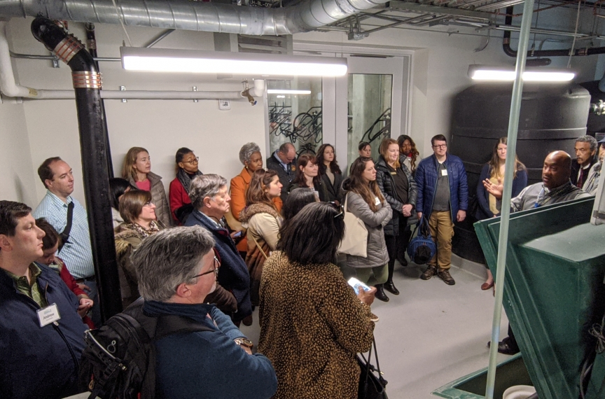 Most tours end in the compost bin room where we have important conversations about how we should manage our waste.