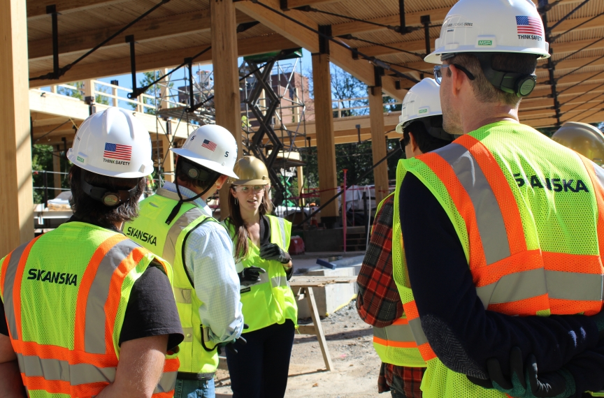 Over 2,000 people took tours of The Kendeda Building construction site.